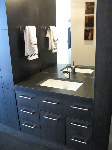 Picture of black modern sink in the bathroom