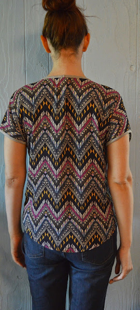Back of Pixley Indianan Graphic Print Mixed Material Tee Stitch Fix