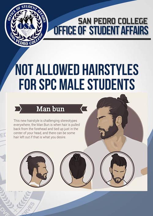 San Pedro College hairstyle for male students man bun