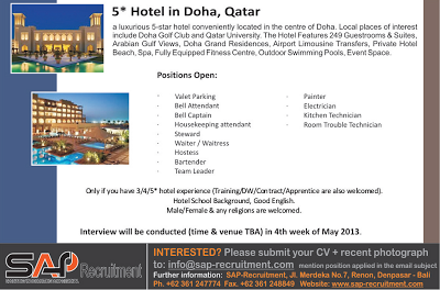 Doha Hotel Vacancy