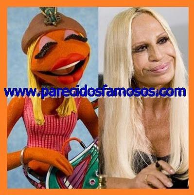 Donatella Versace con Janice The Muppet