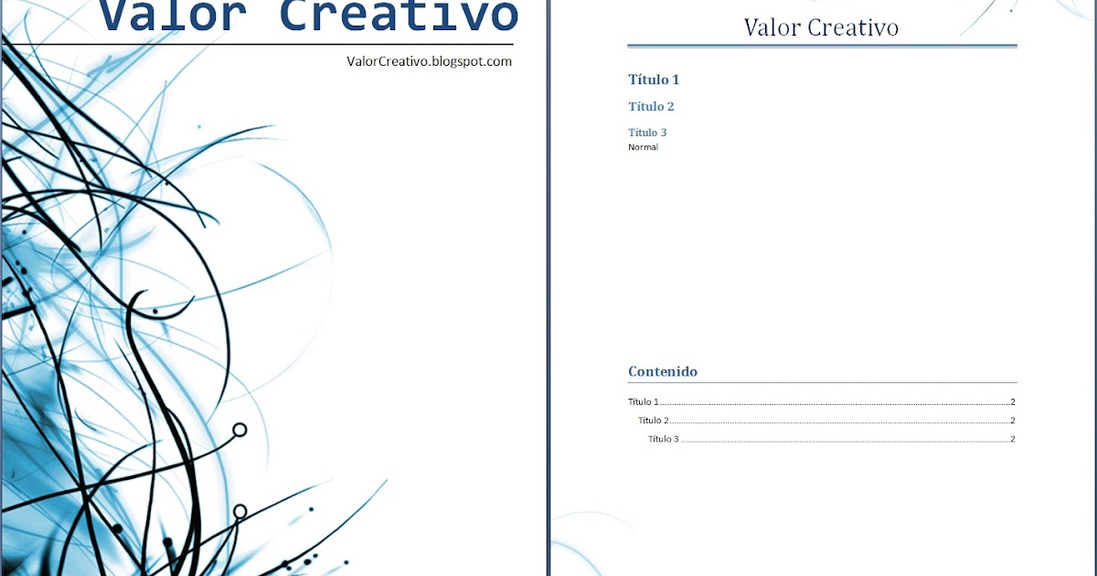 Valor creativo plantilla word 2003 2007 y 2010 mayo 2012 - Plantillas para pared ...