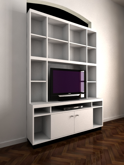 Sergio alvarez biblioteca y mueble para tv for Muebles bibliotecas para living