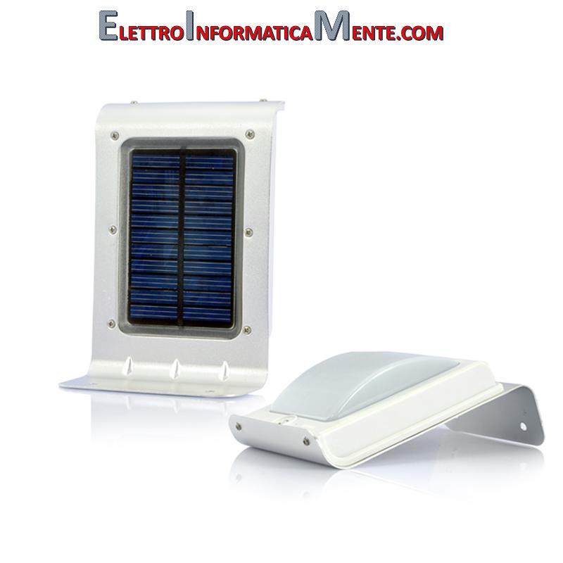 Elettroinformaticamente com lampada led ad energia solare da esterno 16 led 100 lumens sensore - Lampada ad energia solare da esterno ...