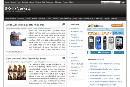 B-Seo Versi 4 Blogger Template Seo Friendly