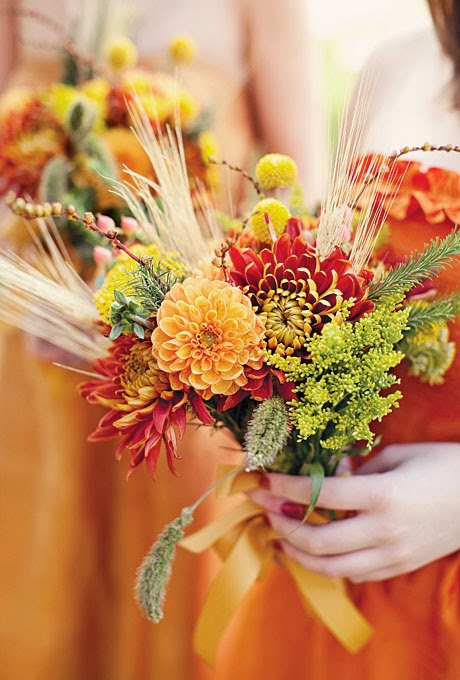Growing Flowers For An October Wedding : Ask cynthia wedding inspirations wheat bouquets