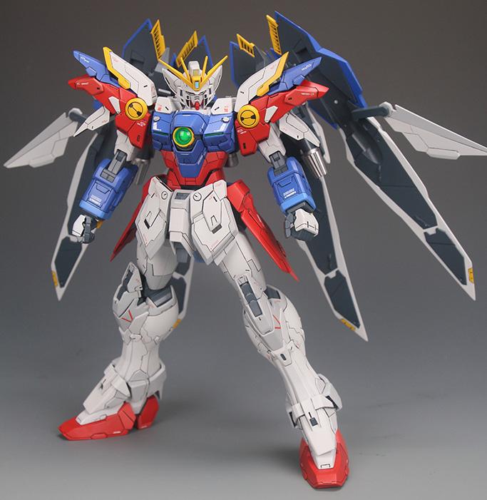 MG 1/100 Wing Gundam Zero + Resin Cast Part - Customized Build