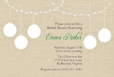 linen garden party invitation