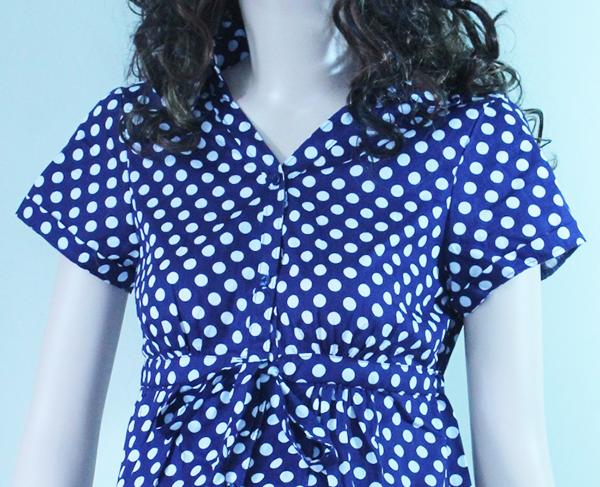 Váy bầu công sở chấm bi V-10