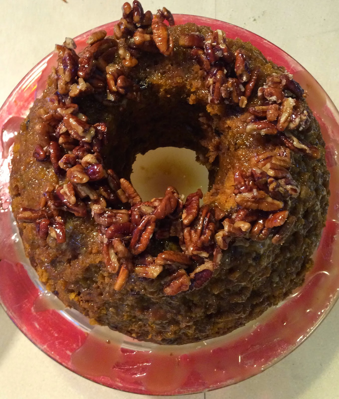... Fine Cooking's Pumpkin-Pecan Cake with Brown Sugar and Bourbon Glaze