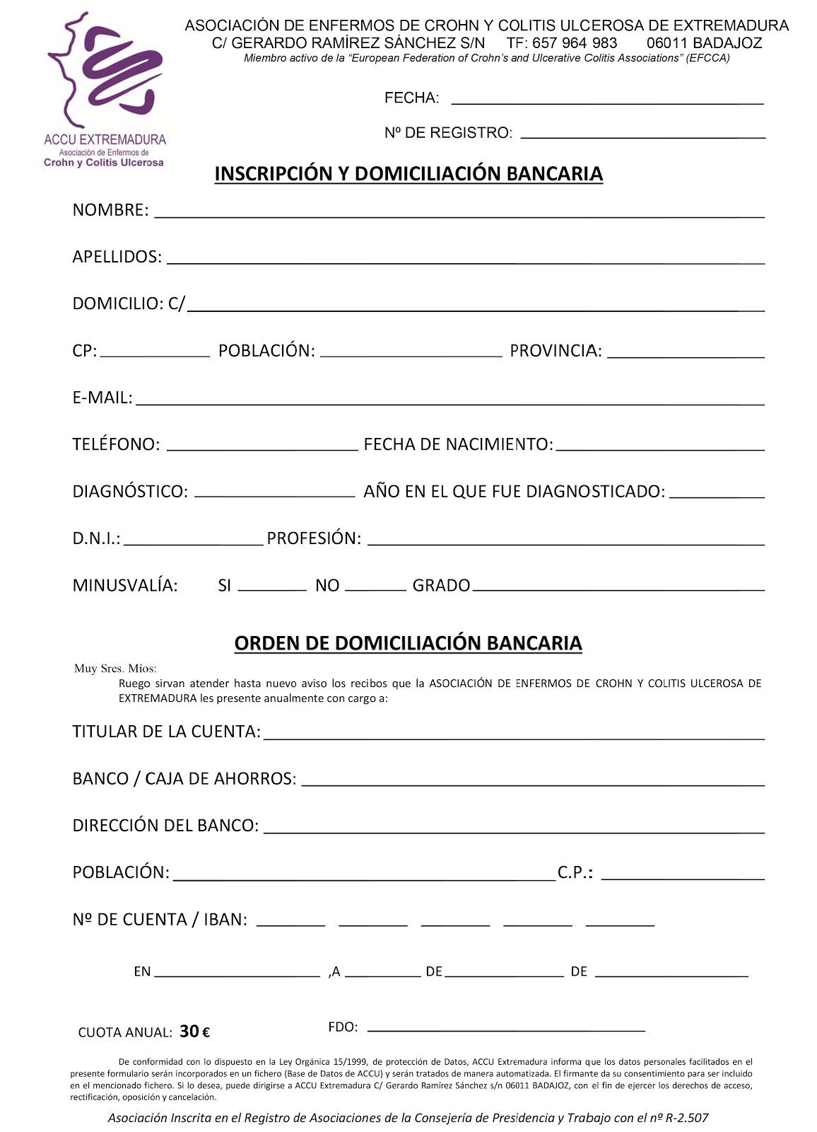 ¿Quieres hacerte socio de ACCU Extremadura?