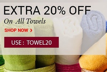 Flat 20% Additional Off on Bath / Face / Hand Towels @ Pepperfry (Valid till Today Midnight Only)