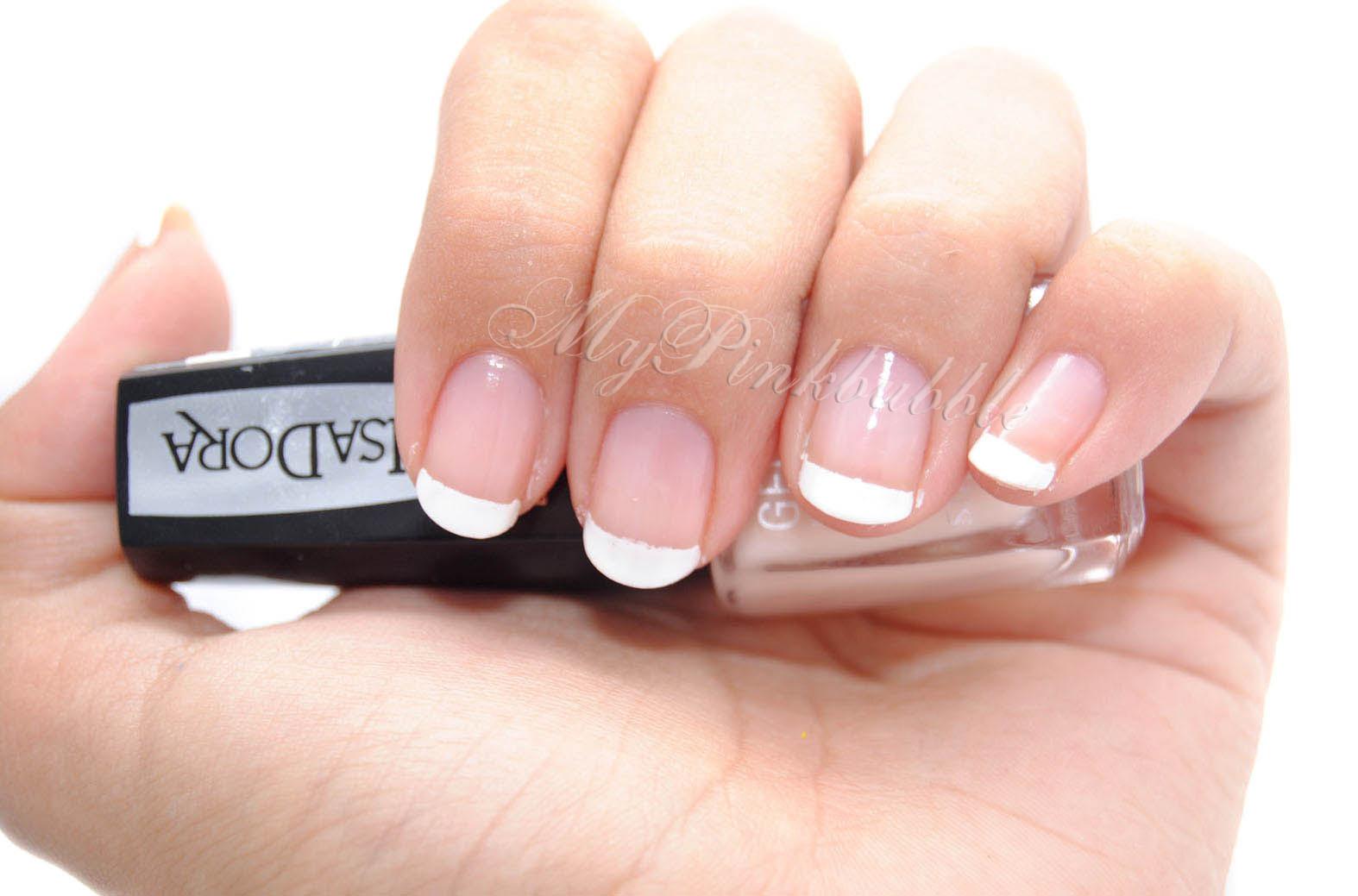 Isadora gel nail lacquer manicura francesa