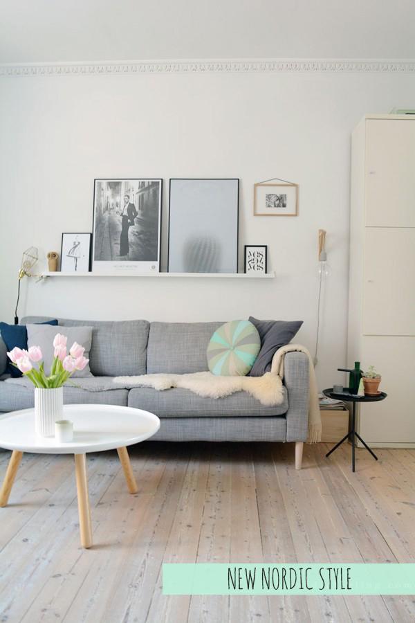 Coastal style new nordic style for Sofa skandinavisch