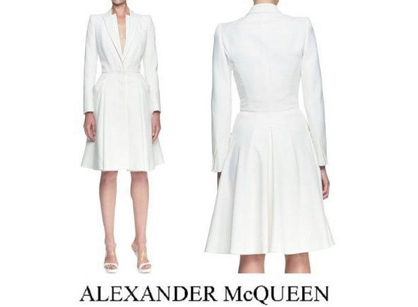 Princess Mette-Marit's ALEXANDER McQUEEN Double Coat Dress
