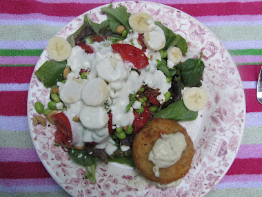 Crabcake and Salad for a Picnic