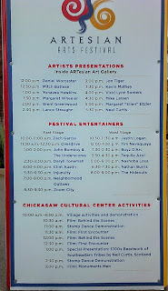 2015 Artesian Arts Festival, Event's times and place.