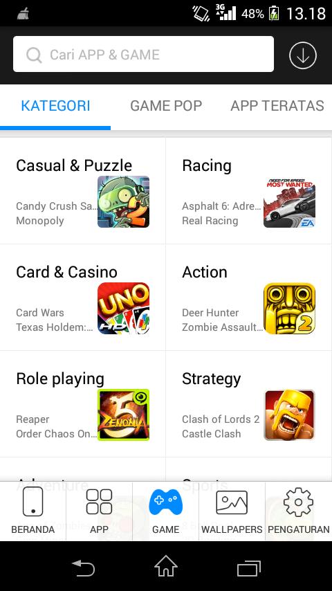 Kategori Permainan Android Store
