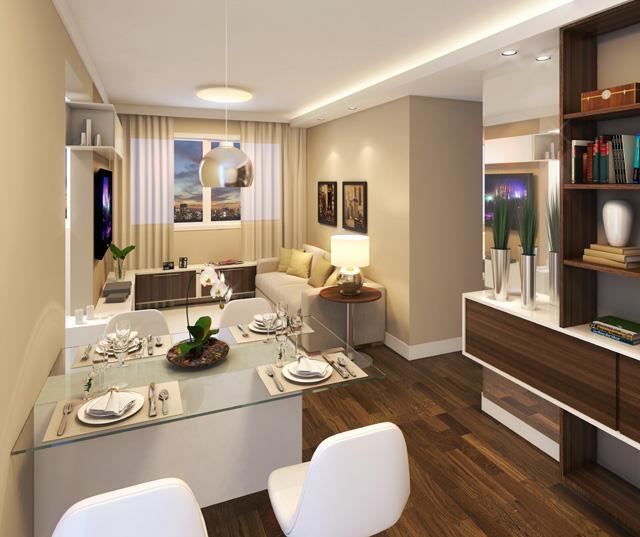 Construindo minha casa clean ambientes com bege super for Sala de estar y comedor