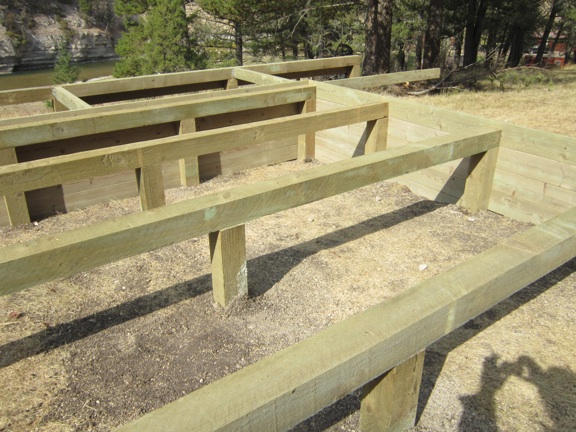 The montana cabin builder october 2012 for How to build a pier foundation