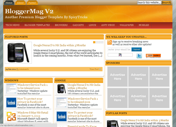 BloggerMag blogger template 25+ Best Free Magazine Blogger Templates for 2013 Download