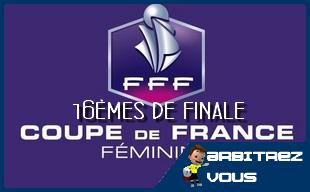 Fff coupe de france f minines tirage des 1 16 mes de finale arbitrez vous - Fff tirage coupe de france 2015 ...