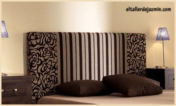 si se va a tapizar la cabecera de la cama se debe usar una tela fuerte y de fcil limpieza y que sean combinables con las sbanas elegir tejidos de colores