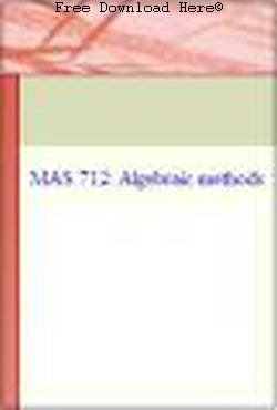 Free Download Algebraic Methods Book: