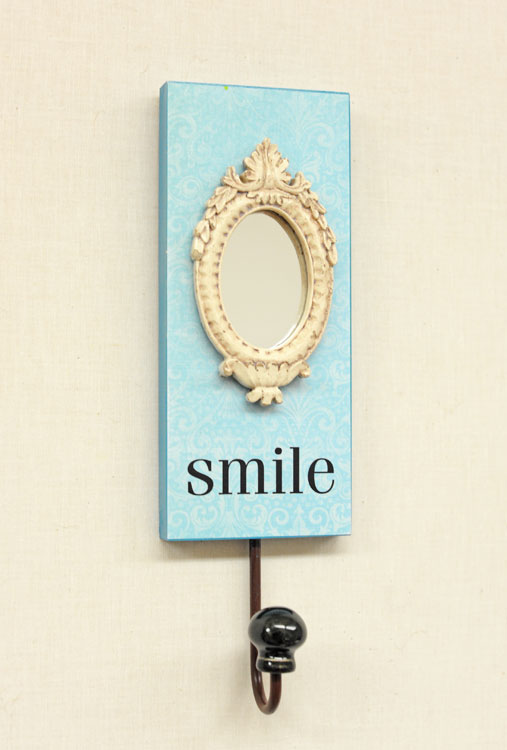 Ben franklin crafts and frame shop key holder with mirror for Mirror key holder