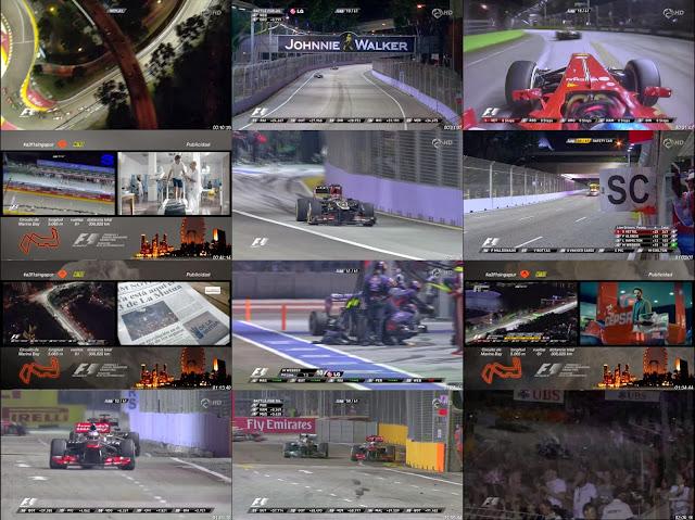 Carrera Gran Premio de Singapur Formula 1 22 de Septiembre HD 2013