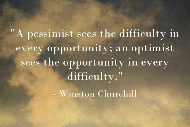 Người lạc quan luôn nhìn thấy cơ hội trong khó khăn