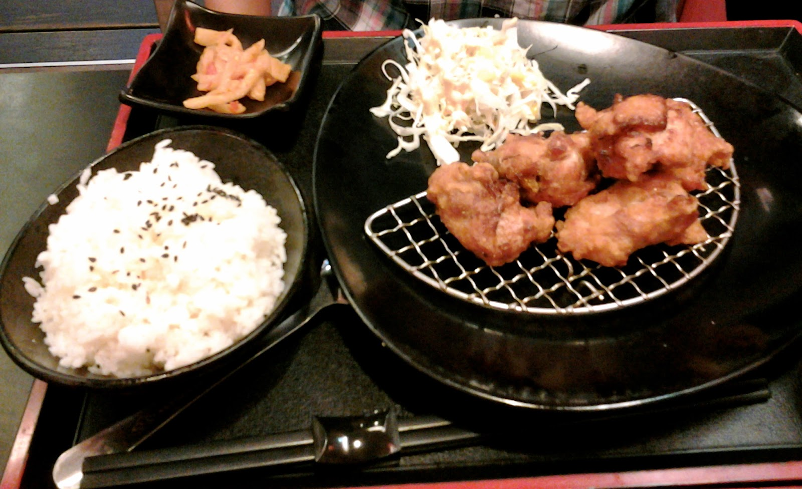Chicken Karage Set Gongguan Taipei Taiwan