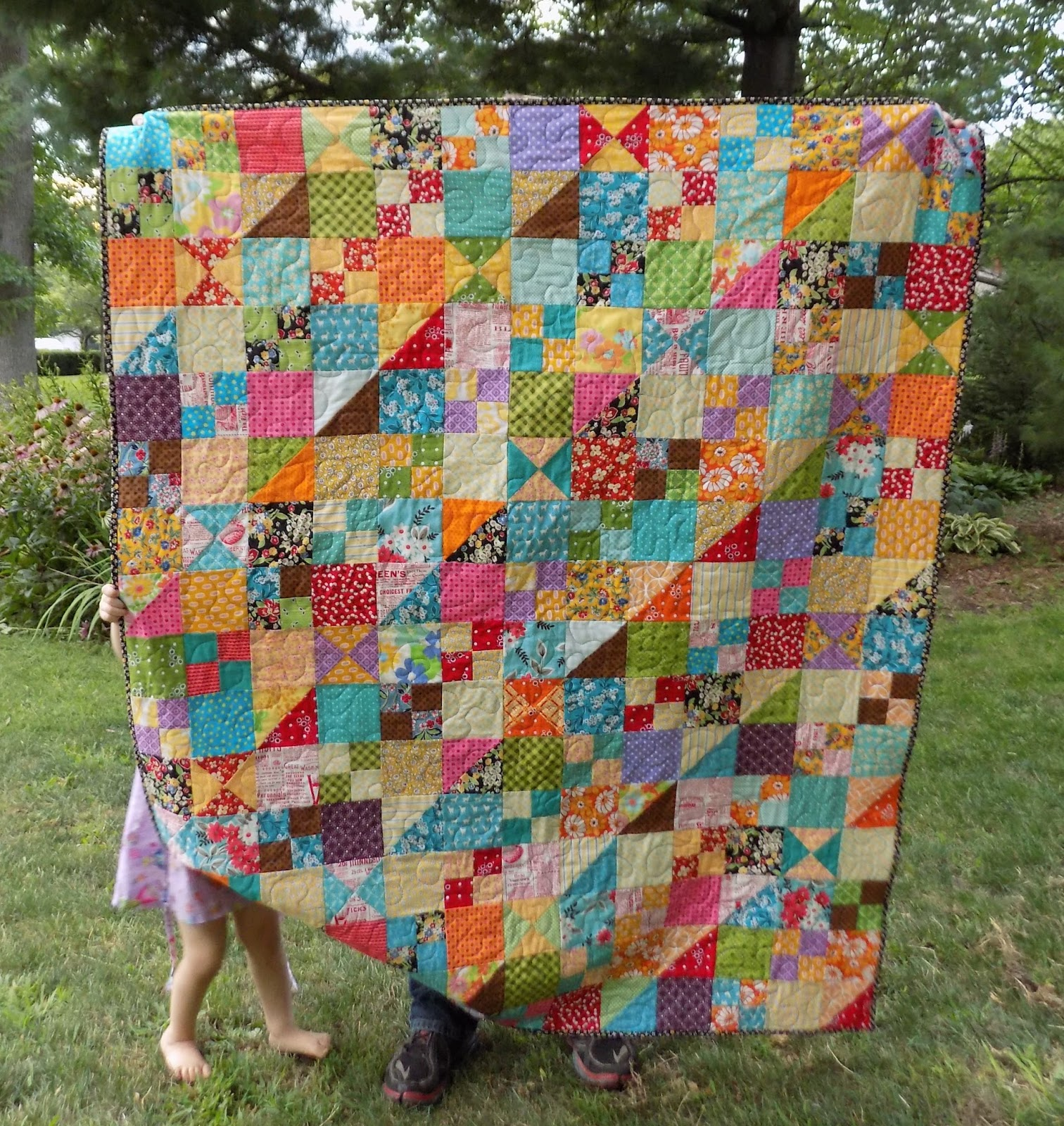 Sewn by leila gardunia that quirky scrap quilt along for Scrap quilt