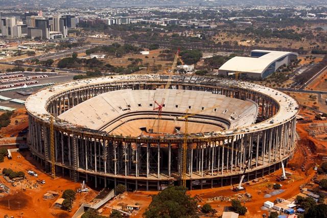 Estádio Nacional de Brasília Mané Garricha está com  81% de suas obras concluídas