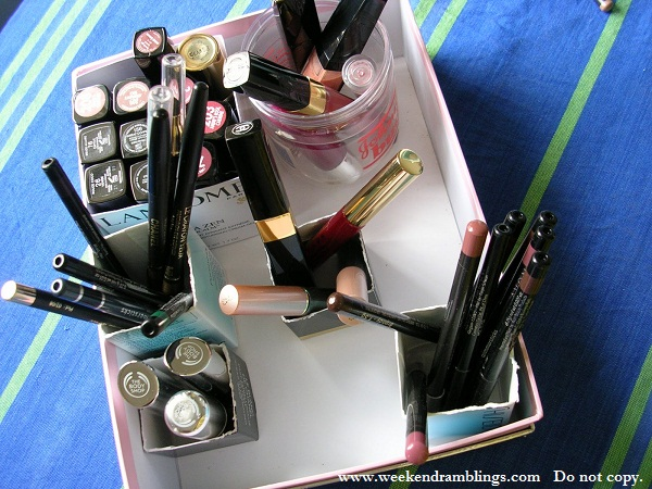recycle paper bags covers makeup storage