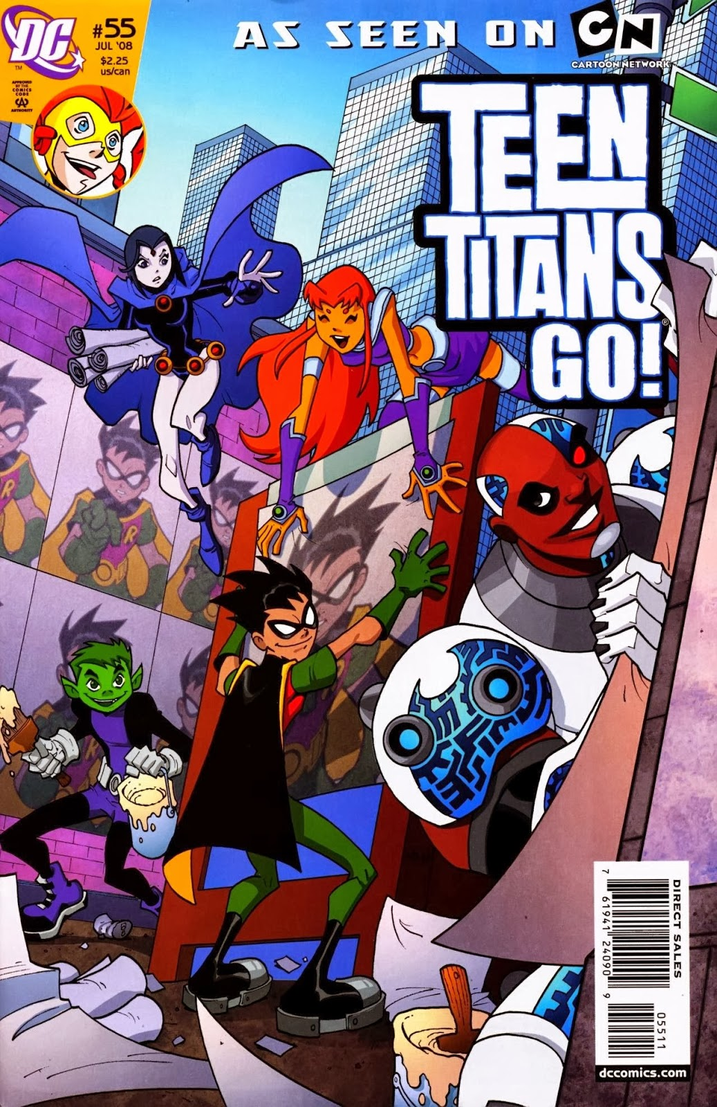 teen titans go comic book series teen titans go issue 55 when there 39 s trouble. Black Bedroom Furniture Sets. Home Design Ideas