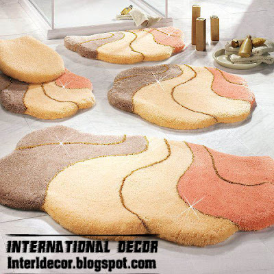 Bathroom Rug Set 5 Pieces Modern Bathroom Rug Sets Models Colors