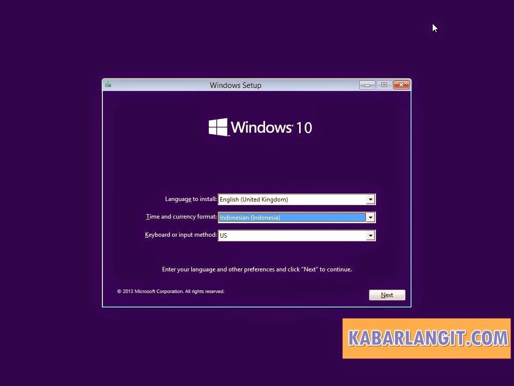 Install Windows 10 1