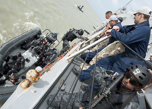 Bangladesh Navy SWADS during exercise