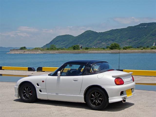Suzuki Cappuccino, kei car, mały samochód, japoński, JDM, mały silnik 日本車 スズキ カプチーノ