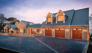 synthetic wood garage doors.