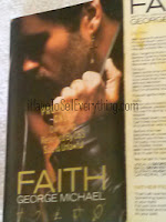 George Michael cassette Faith with promotional