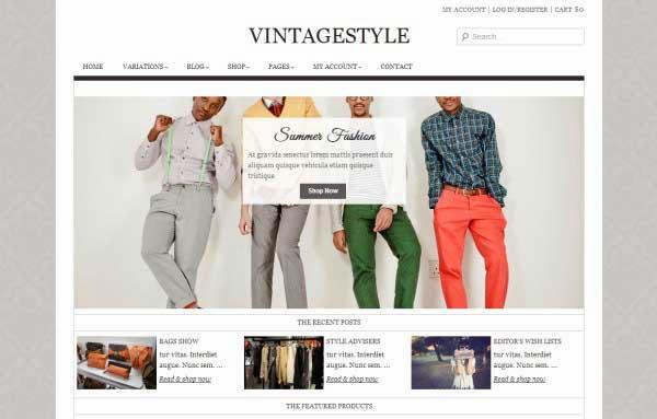 VintageStyle - Responsive E-commerce Theme