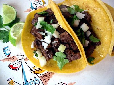 The Hungry Texan: Tacos de Lengua (Cow Tongue)