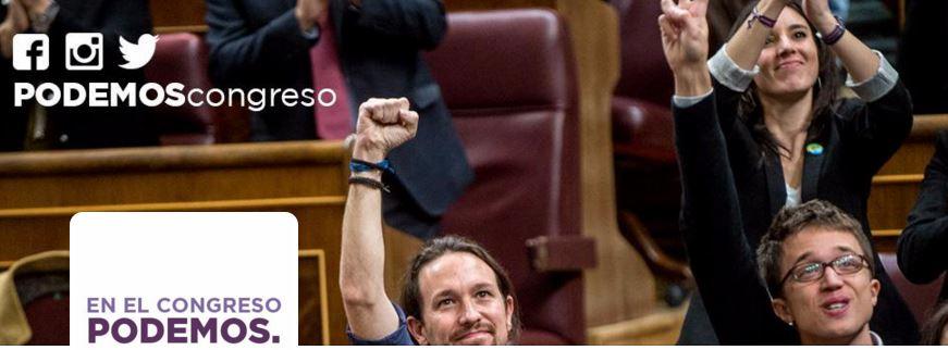 Seguimos a Podemos en Twitter