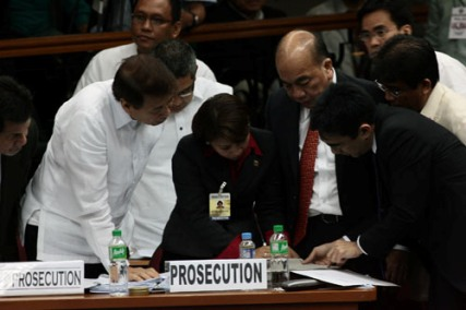 Corona impeachment trial prosecution