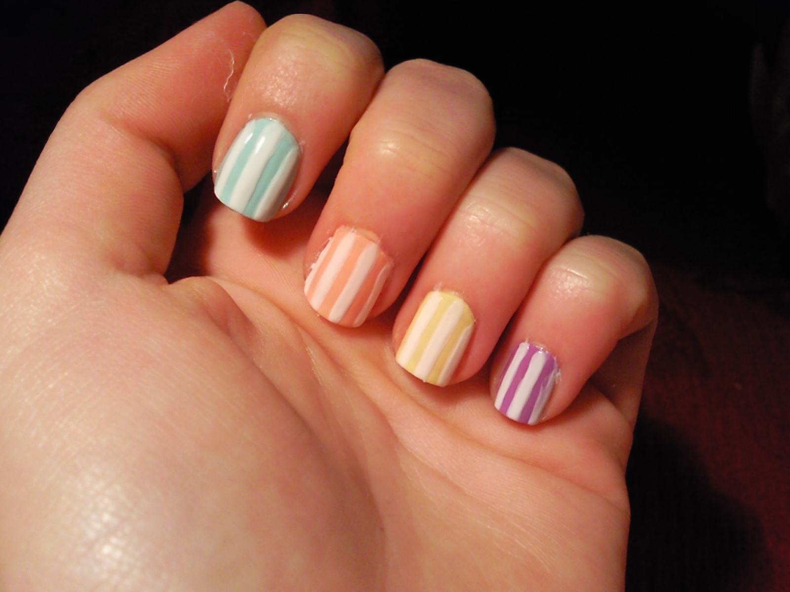 Combine pastel shades (they're super fashionable now) with white