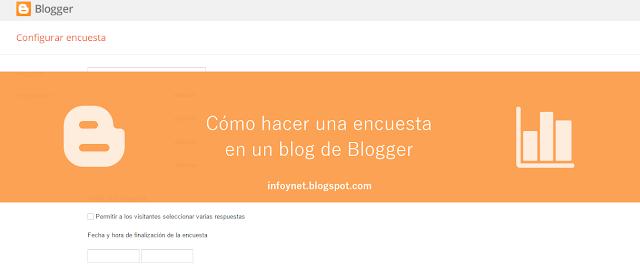 Cómo hacer una encuesta en un blog de Blogger
