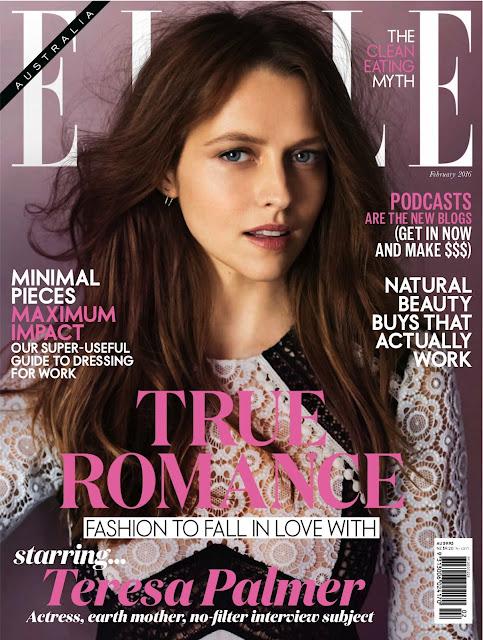Actress, Model, @ Teresa Palmer - Elle Australia, February 2016