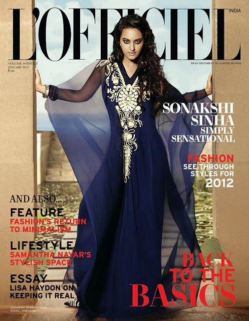 Sonakshi Sinha on L'Officiel Magazine Cover1 - Sonakshi Sinha on L'Officiel Magazine Cover